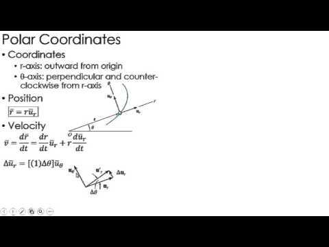 Dynamics Lecture: Kinematics using Polar Coordinates
