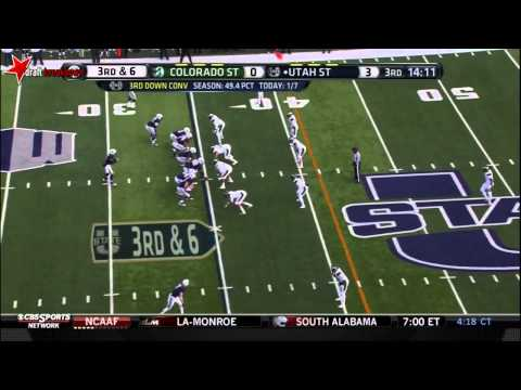 Shaq Barrett (Edge Rusher, Colorado State) vs Utah State 2013