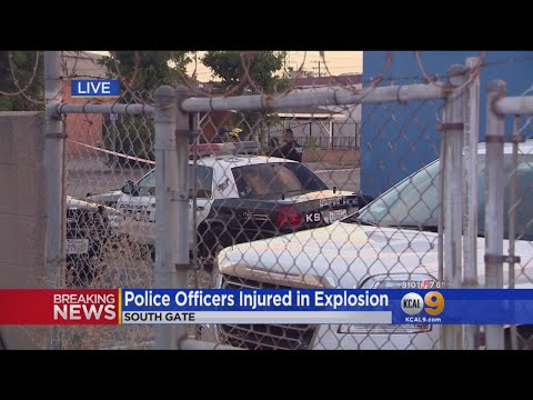 Two South Gate Police Officers Injured In Explosion