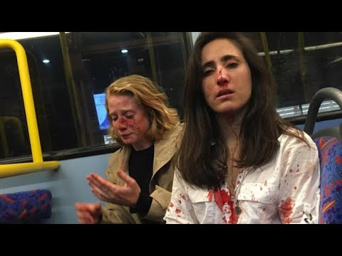 Female Couple Attacked By Gang On Night Bus | ITV News