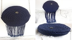 a02d34081f11f حقيبة كروشيه بخيط المكرامي 👜 👛 Sac en crochet avec fil en macramé -  Duration  8 29.