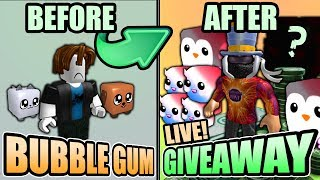🎁 Bubble Gum Simulator Giveaway PENGUINS, SHINY MARSHMALLOWS & MYSTERY PETS (Roblox 2019)