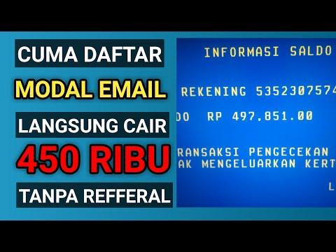 🔴CAIR 450 RIBU  CUMA MODAL EMAIL....  Cara Menghasilkan Uang Dari Internet