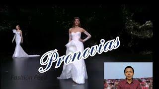 Vestidos modernos de novia de Pronovias | Reaccionando al fashion show