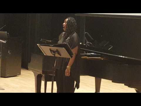 2017 African American Art Song Alliance-Minnita Daniel Cox sings BETTY JACKSON KING