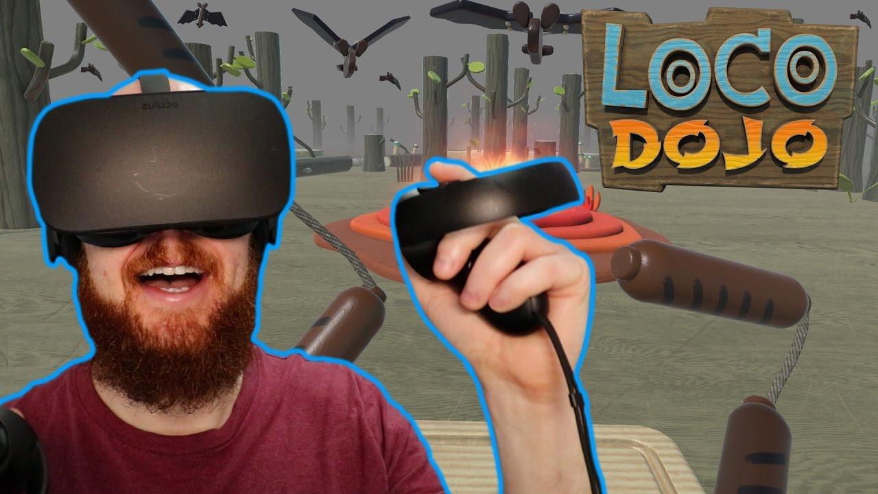 SAUSAGE NUNCHUCKS!! Loco Dojo Solo Play Oculus Rift & Oculus Touch Gameplay - Virtual Reality