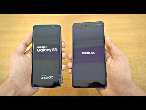 Samsung Galaxy S8 vs NOKIA 6 - Speed Test! (4K)