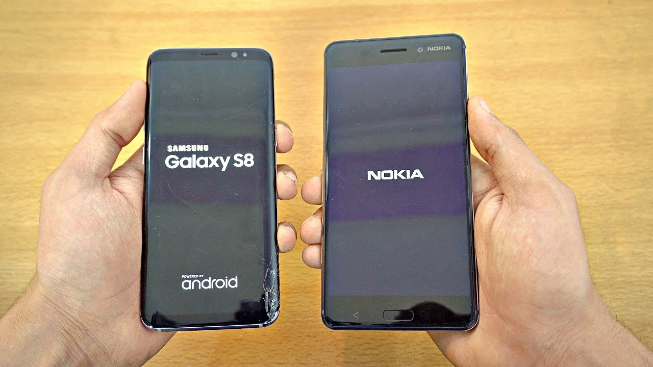 samsung galaxy s8 vs nokia 6 speed test 4k youtube. Black Bedroom Furniture Sets. Home Design Ideas