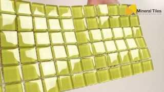 Glass Mosaic Tile Backsplash Yellow 1x1 - 101CHIGLABR108