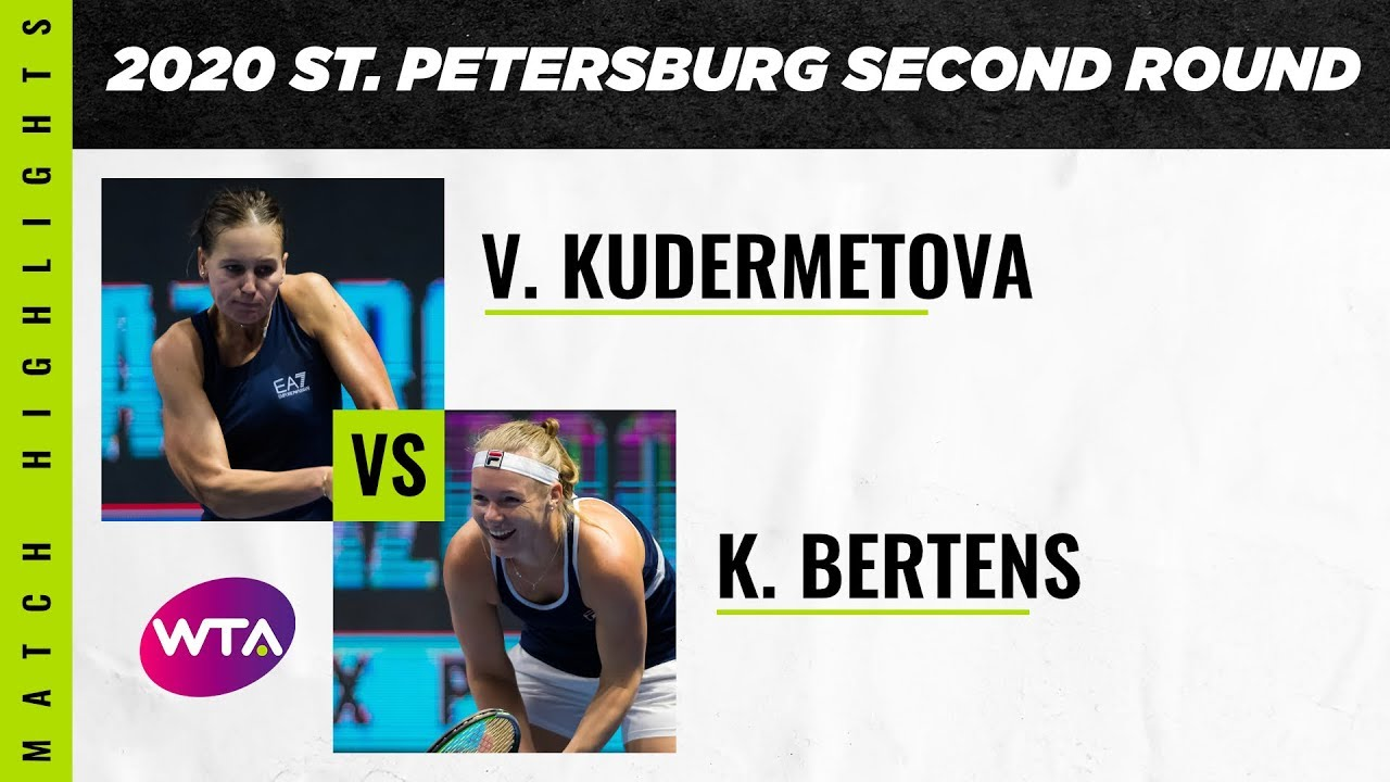 Veronika Kudermetova vs. Kiki Bertens | 2020 St. Petersburg Second Round | WTA Highlights