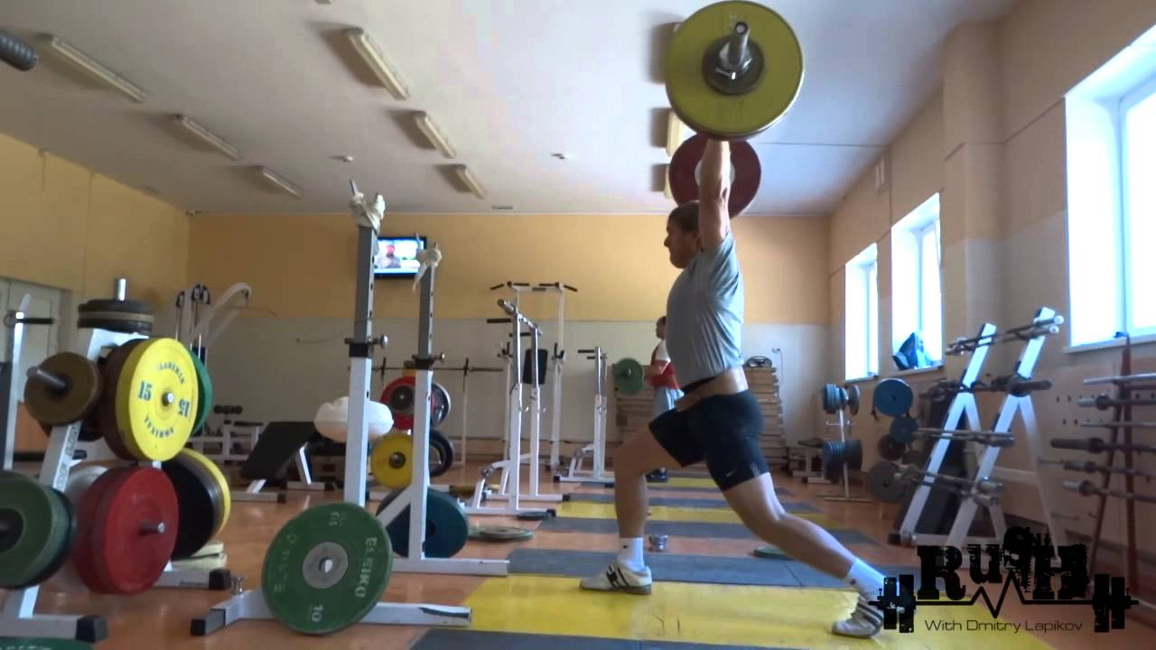 Dmitry Lapikov weightlifting training 19.08.15 preparatory ...