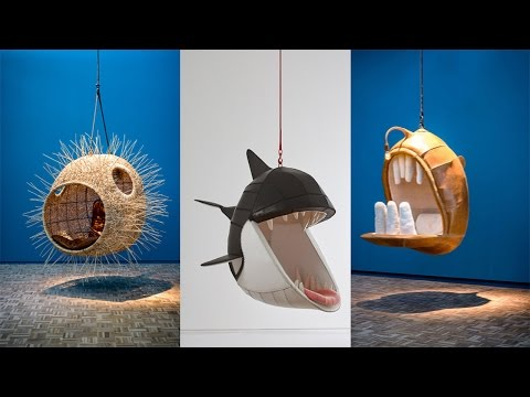 Hanging Chairs Let You Lie Inside The Mouths Of Animals █▬█ █ ▀█▀