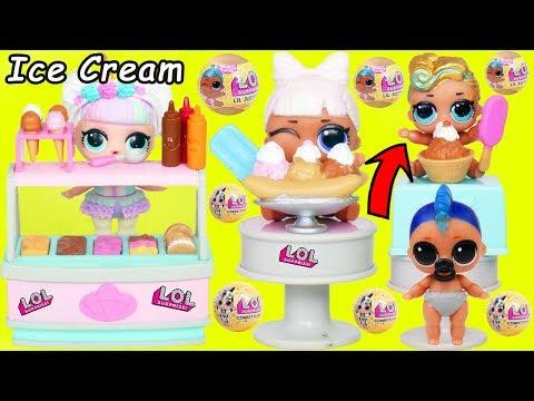 Unicorn LOL Surprise Dolls Ice Cream for Lil Punk Boi Sisters Wedding JOJO SIWA Squishy Grandma