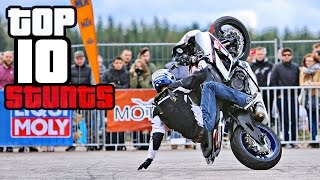 TOP 10 Best Motorcycle Tricks & Combos at StuntArt 2016