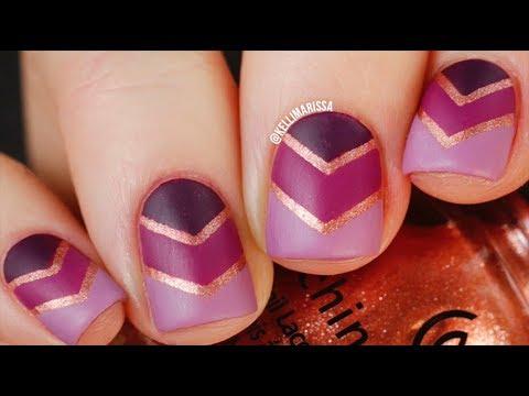 Purple Ombre Striping Tape Nail Art Tutorial DIY || KELLI MARISSA - YouTube