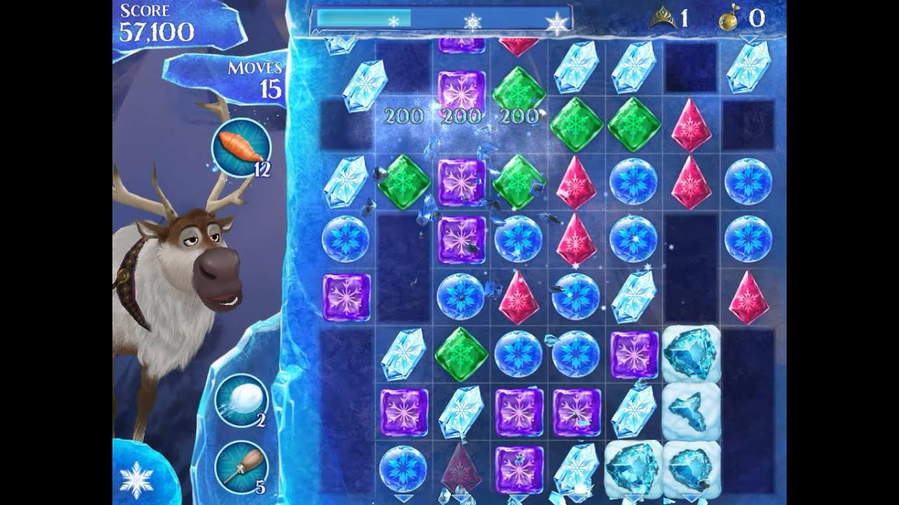 how to beat level 185 in frozen free fall