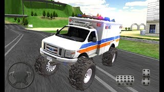Monster Truck Driving Rally #1 - Ice Cream Car, Police, Firetruck, Ambulance - Android Gameplay FHD