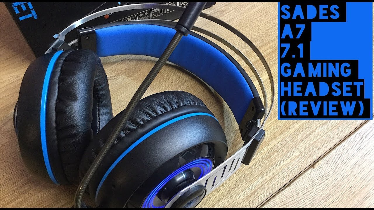 Sades A7 7.1 Surround Sound USB Gaming Headset (Test \u0026 Review) - YouTube