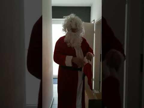 … crazy Hippie-Weihnachtsmann