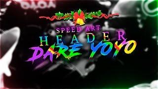 feliz navidad y ao   nuevo header dare yoyo   speed art