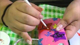 How to decorate phone case. tool which i used ☆acrylic paints ☆supe...
