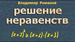 алгебра РЕШЕНИЕ ЧИСЛОВЫХ НЕРАВЕНСТВ 8 и 9 класс