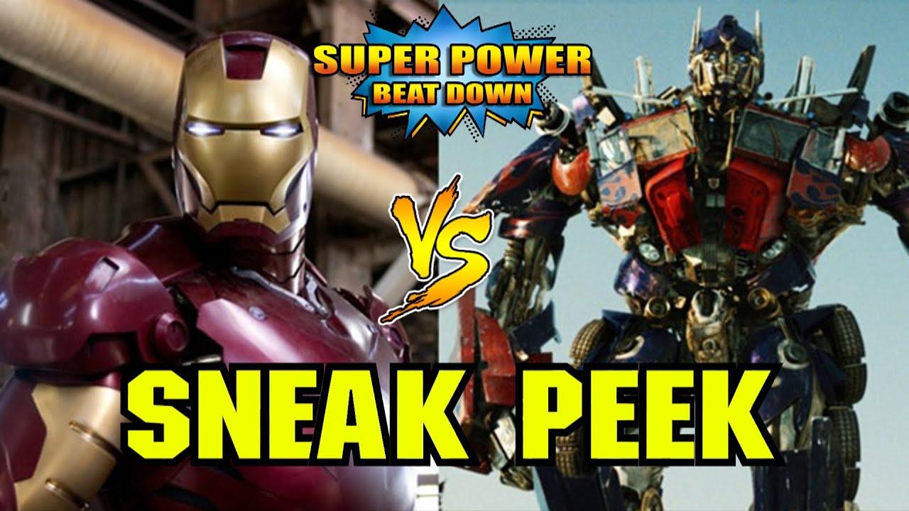 THE FIRST ANIMATED BEATDOWN!!! (Iron Man vs Optimus Prime ...