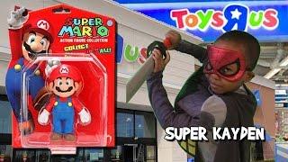 TOYS R US SHOPPING (Kayden buys Super Mario Bros Toys) - Super Kayden