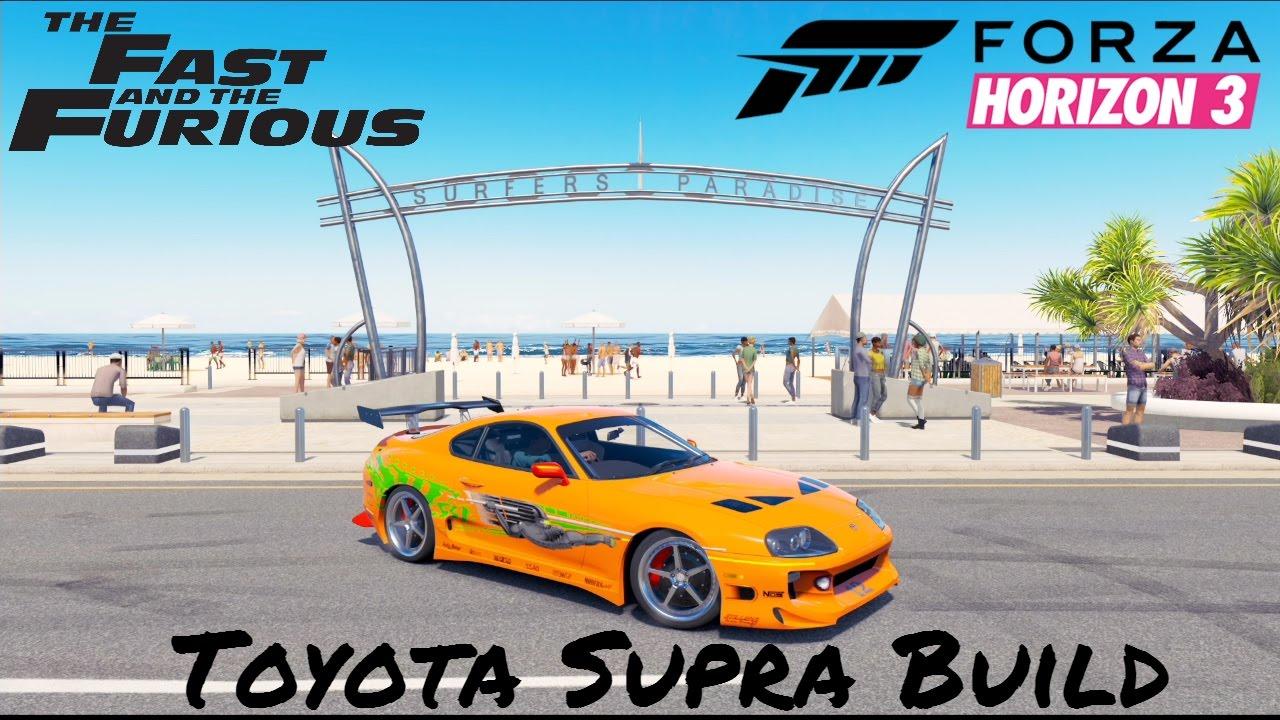 Forza horizon 3 fast furious toyota supra