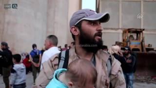 مصر العربية | قافلة تقل سكان حيي القابون وتشرين في دمشق تصل إدلب