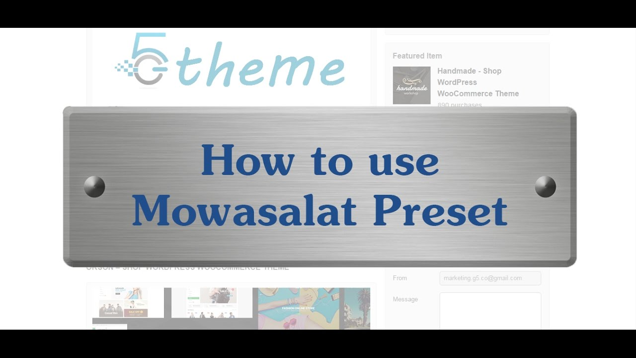 Gmail themes apply - How To Add New Preset And Apply Preset To A Page Post Ex Mowasalat