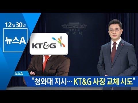 """기재부 전 사무관 """"靑 지시로 KT&G 사장 교체 시도""""   뉴스A"""