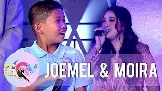 "Moira joins Joemel in singing ""Tagpuan"" 
