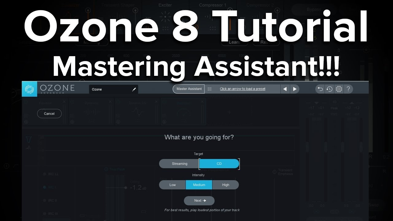 Ozone 8 Tutorial - Using the Master Assistant