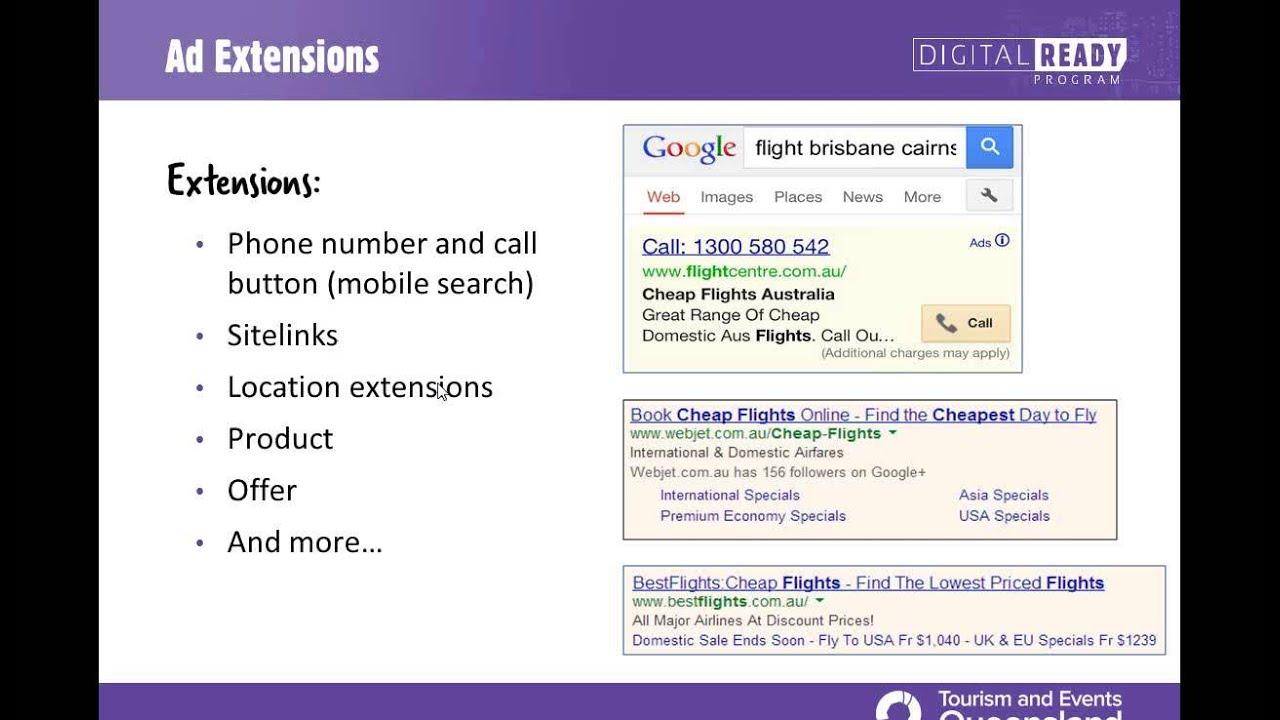 Digital Ready Webinar - Unpacking Google Adwords for tourism