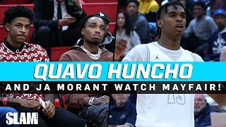 QUAVO HUNCHO & JA MORANT PULL UP to watch Josh Christopher & Dior Johnson! 🤩