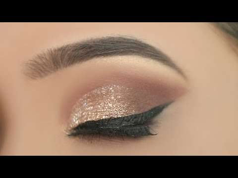 Simple Glitter Eye Makeup For Party