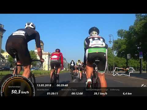Garmin Velothon 2018 Block A mit Sturz bei Km 40,9