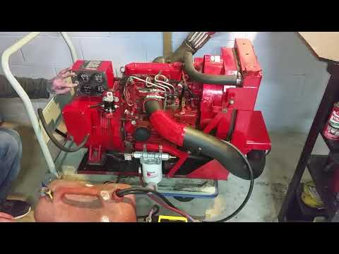 Westerbeke deisel engine with 6k generator, waste oil ready! FOR SALE- start up video