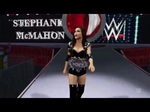 WWE 2K16 Junie Hoang Vs Asuka Wrestlemania Match