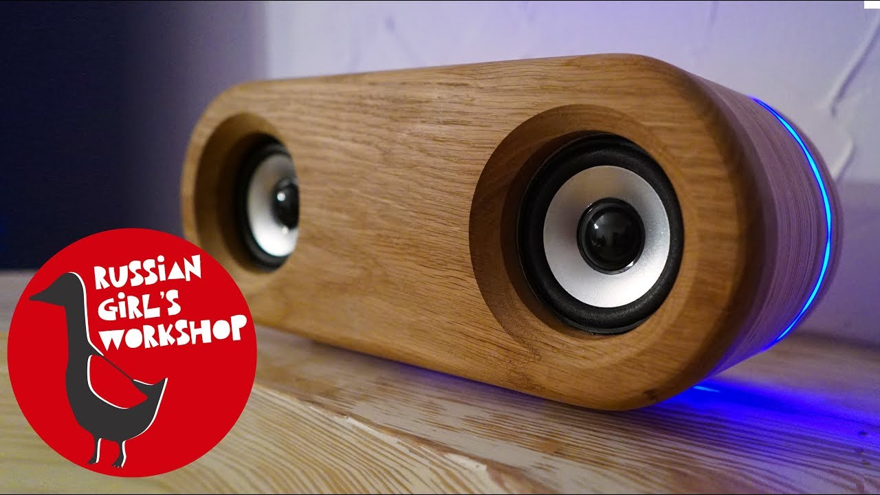DIY WIRELESS BLUETOOTH SPEAKER with LED LIGHT - YouTube