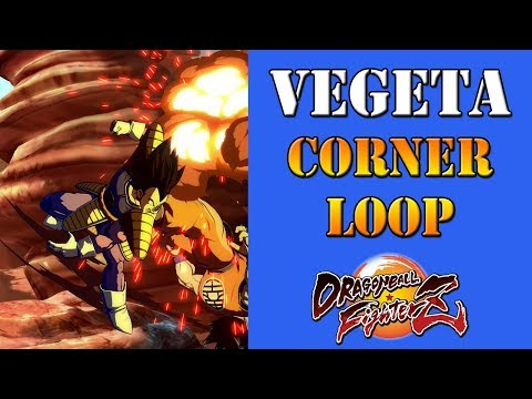Dragon Ball FighterZ - How to do the Base Vegeta corner loop