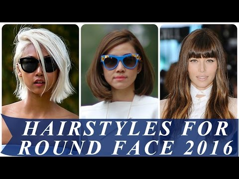 Hairstyles for round face 2017