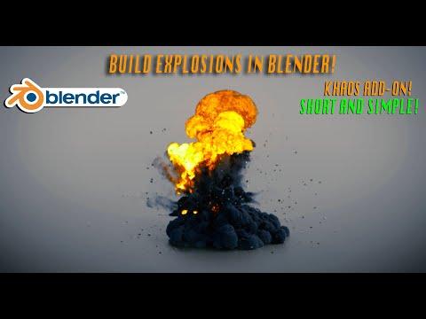 BLENDER EXPLOSIONS IN