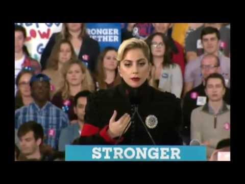 笑える   おもしろ   ローリー、ノースカロライナ州の#angelでヒラリー・クリントンの最終的なキャンペーンでレディー・ガガスピーチ11 7 2016