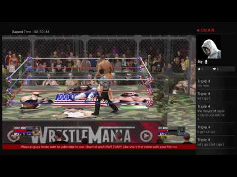 WWE2K16 Johnny white VS Eric blaze white