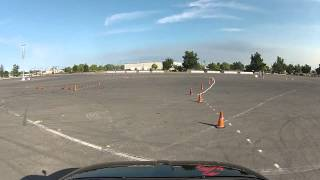 Fiat Abarth SCCA Autocross San Joaquin County Fairgrounds in Stockton, CA 8-17-13 Run 1
