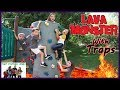 The Floor Is Lava - LAVA MONSTER Tag With Traps / That YouTub3 Family | Family Channel