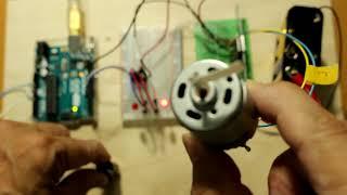 モータードライバーによるDCモーターの速度制御