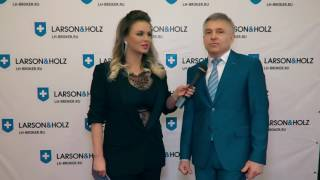 Анна Семенович и независимый эксперт ГК Larson & Holz Владимир Кузовлев